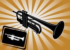 Vecteur de fond de trompette Photo libre de droits