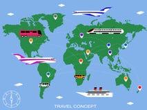 Vecteur de fond de voyage Image libre de droits