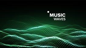 Vecteur de fond de musique Courant de technologie Bokeh électrique illustration 3D illustration stock