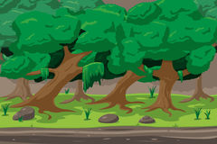 Vecteur de Forest Cartoon Outdoor Background Design Photos libres de droits