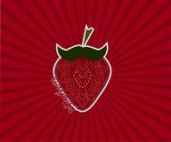Vecteur de fraise Photo stock