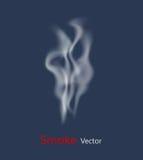 Vecteur de fumée sur le fond transparent illustration stock
