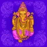 Vecteur de Ganesha de Dieu Image libre de droits