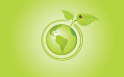 Vecteur de globe d'Eco illustration libre de droits