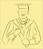 vecteur de graduation Image stock