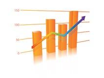 Vecteur de graphique Photo stock