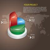 Vecteur de graphique circulaire Image stock