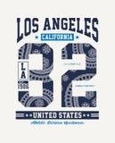Vecteur de graphique de T-shirt de conception de typographie de la Californie de LA de sport sportif Image libre de droits
