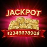 Vecteur de gros lot Fond de casino pour la chance, argent, gros lot, jeu, illustration de loterie illustration stock
