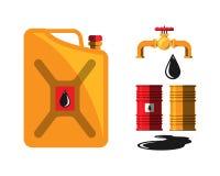 Vecteur de grue de capacité de tonneau à huile Images libres de droits