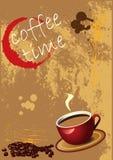 vecteur de grunge du café ENV de fond illustration de vecteur