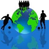 Vecteur de joueurs de football de coupe du monde Photo stock