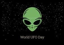 Vecteur de jour d'UFO du monde illustration libre de droits