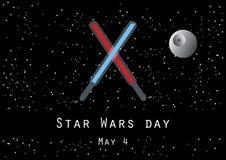 Vecteur de jour de Star Wars illustration de vecteur