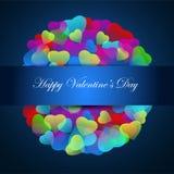 Vecteur de jour de valentines de coeurs Abrégé sur jour de valentines Image libre de droits