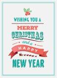 Vecteur de Joyeux Noël et de bonne année Photo libre de droits