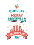 Vecteur de Joyeux Noël et de bonne année Images stock