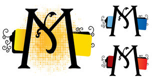 Vecteur de l'alphabet m Photo libre de droits