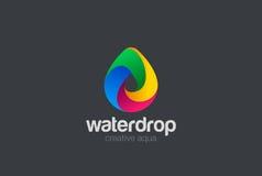 Vecteur de la conception 3D de logo de baisse de l'eau Icône de Waterdrop Images stock