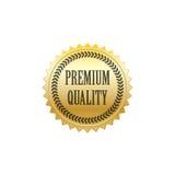 Vecteur de la meilleure qualité d'insigne d'or de qualité images libres de droits