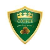 Vecteur de la meilleure qualité de qualité de café d'icône de bouclier Photographie stock