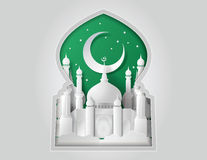 Vecteur de la mosquée de papier Photo libre de droits