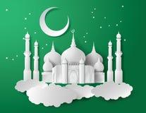 Vecteur de la mosquée de papier Images stock