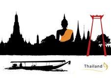 Vecteur de la Thaïlande Photos stock