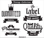 Vecteur 001 de label de vintage Photographie stock