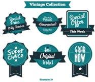 Vecteur 002 de label de vintage Image libre de droits