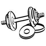 Vecteur de levage d'halt?re de kettlebell de gymnase de wieghts, ENV, logo, ic?ne, illustration de silhouette par des crafteroks  illustration de vecteur