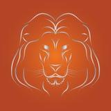 Vecteur de lion Images stock