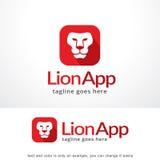 Vecteur de Lion App Logo Template Design, emblème, concept de construction, symbole créatif, icône Image stock