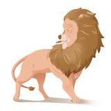 Vecteur de Lion Cartoon Grand Animal Character illustration libre de droits