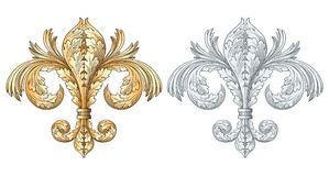 Vecteur de lis de couronne d'or Image stock
