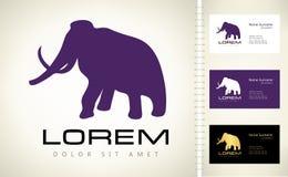 Vecteur de logo d'éléphant Photos stock