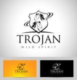 Vecteur de logo de cheval Emblème d'insigne d'icône de cheval Images libres de droits