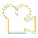 vecteur de logo de cinéma Images libres de droits