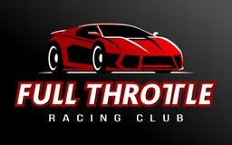 Vecteur de logo de club de voiture de course Images libres de droits