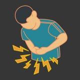 Vecteur de logo de douleur de mal de ventre Images libres de droits