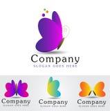 Vecteur de logo de papillon Photo libre de droits