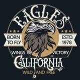 Vecteur de logo de tête d'Eagle Images libres de droits