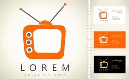 Vecteur de logo de TV Photos libres de droits