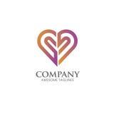 Vecteur de logo de vecteur d'icône de coeur illustration de vecteur