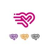 Vecteur de logo de vecteur d'icône de coeur illustration stock