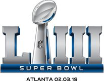 Vecteur de logo du superbowl LIII illustration de vecteur