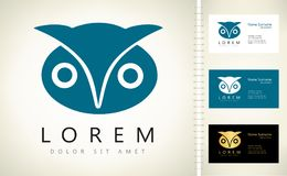 Vecteur de logo de hibou Image stock