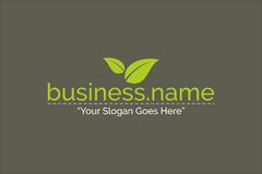 Vecteur de Logo Nature Green Color Template d'affaires Image stock