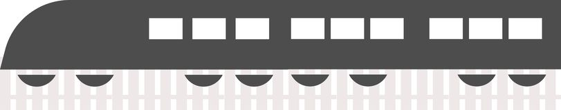 Vecteur de logo de train sur un fond blanc illustration stock