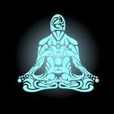 Vecteur de méditation Images stock